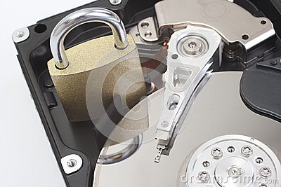 Secure hard disk drive