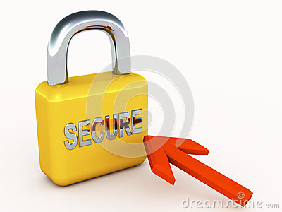 Secure Lock And Pointer Stock Photography - Image: 25735782