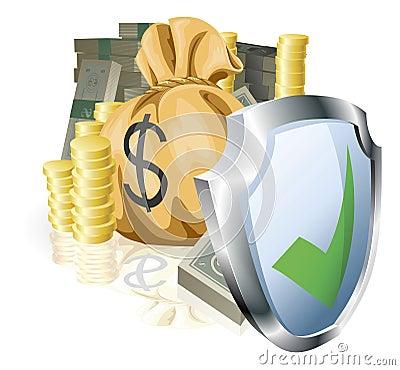 Secure money concept
