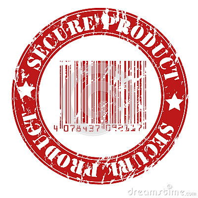 Secure product grungy stamp design