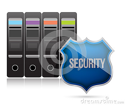 Secure server shield illustration design