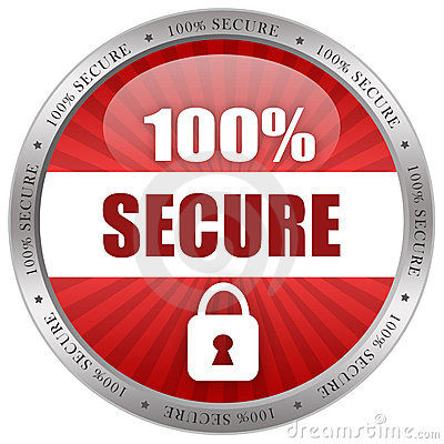 Free Secure Shiny Icon Royalty Free Stock Photos - 19120318