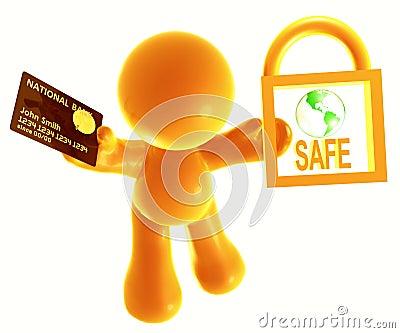 Secure shopping icon symbol