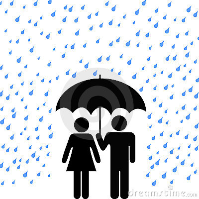Secure Umbrella Couple Rain