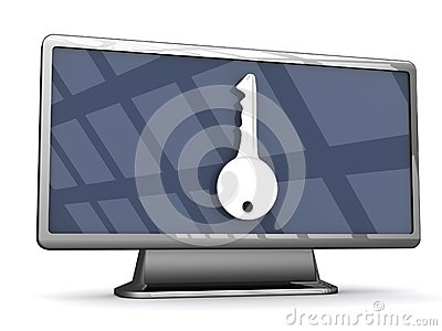 Secure Widescreen television