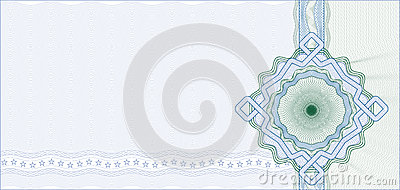 Secured Guilloche Background for Certificate
