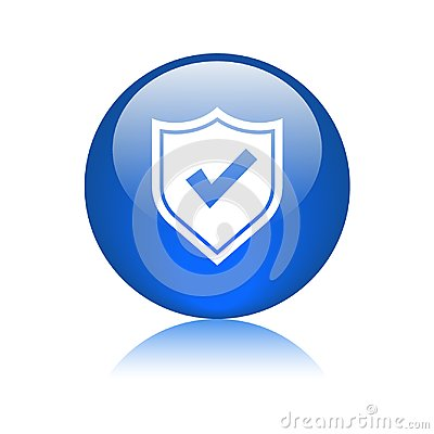 Free Secured / Security Icon Web Button Stock Image - 120939051