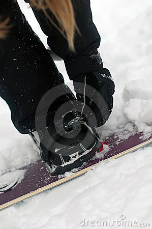 Securing bindings from snowboard