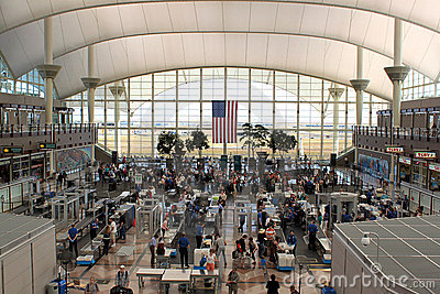 Security at airport terminal Editorial Photography