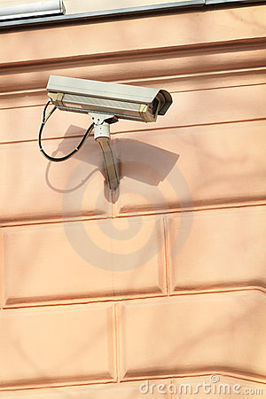 A security camera