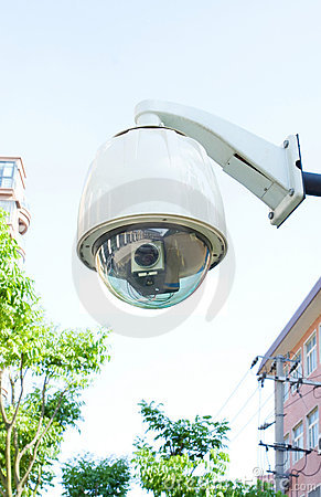 Security camera (Clipping path)