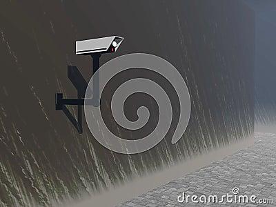 Security camera 3D render