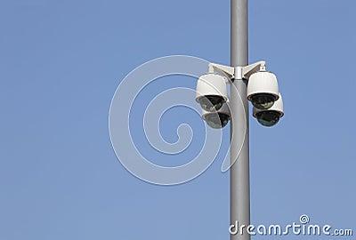 Security Cameras On A Pole Stock Photos Image 14936483
