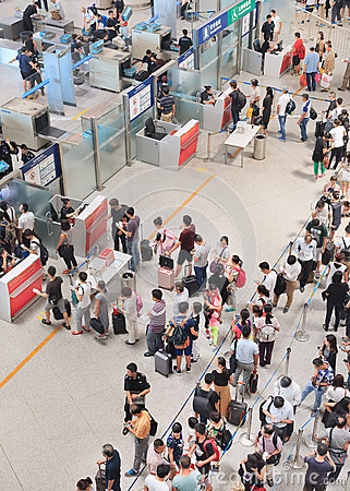 Free Security Check At Beijing Capital International Airport. Royalty Free Stock Image - 89798726