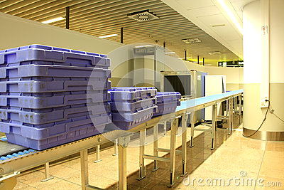 Security check point at the airport Editorial Stock Photo