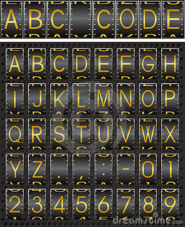 Security code alphabet