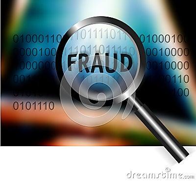 Security Concept Focus Fraud Investigation
