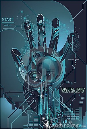 Free Security Concept With Digital Fingerprint Royalty Free Stock Photo - 8648915