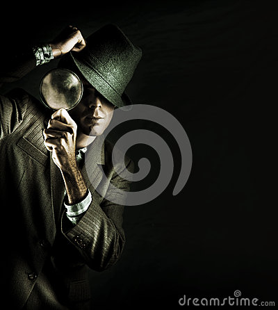Free Security Detective With Magnifying Glass Stock Photo - 24636070