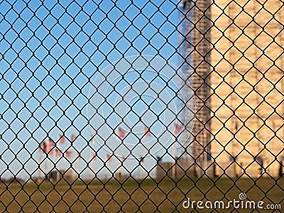Security fence in Washington