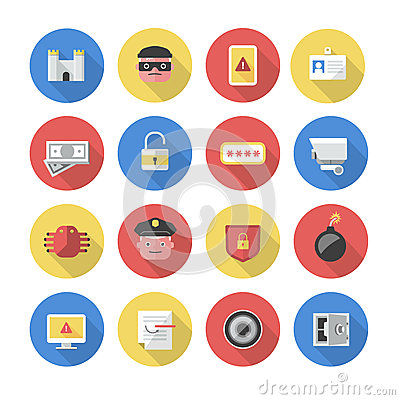 Security – Flat Icons