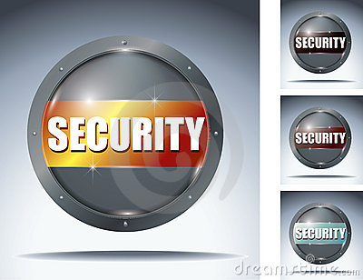 Security glass button
