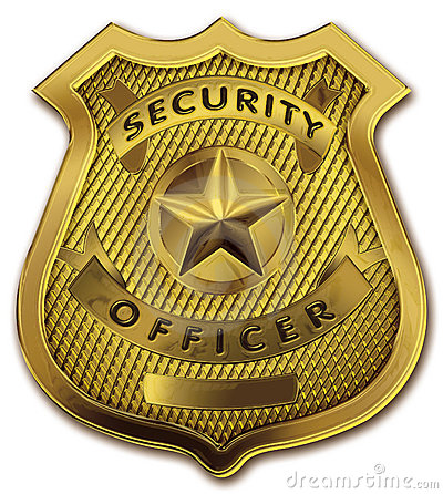 Security Guard Officer Badge Stock Images Image 14985724