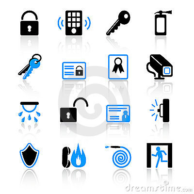 Free Security Icons Royalty Free Stock Image - 8604056