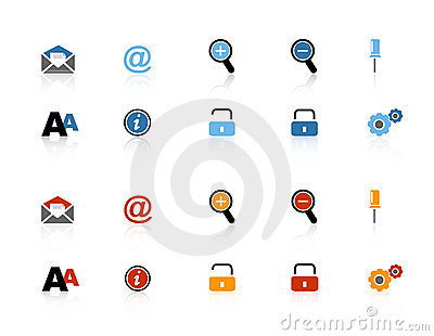 Security and internet web icon set