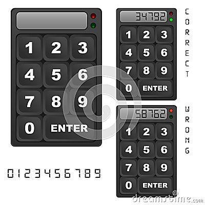Security keypad control panel