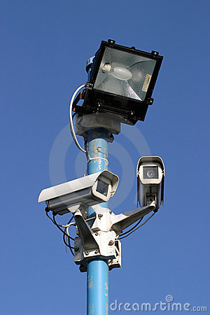 Security Light and Cameras