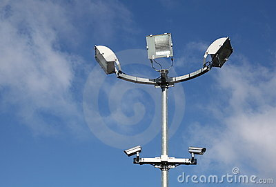 Security Lights Surveillance Cameras