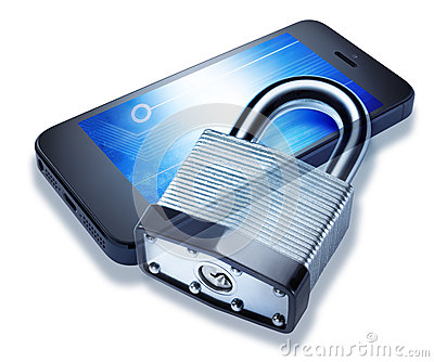 Security Locked Cell Phone