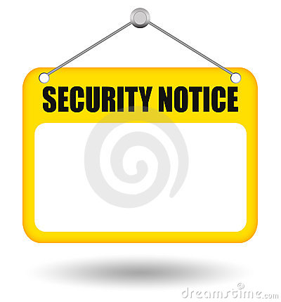Security notice board