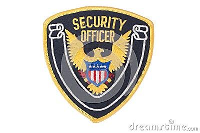 Security officer uniform shoulder patch