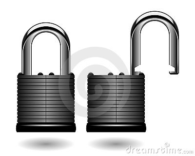 Security Pad Lock Vector