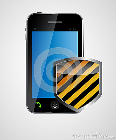 Security phone concept vector illustration