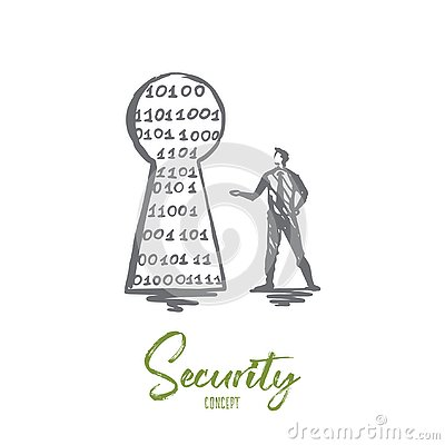 Free Security, Protection, Secure, Network, Safety Concept. Hand Drawn Isolated Vector. Royalty Free Stock Photography - 130812767