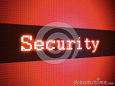 Security word on display