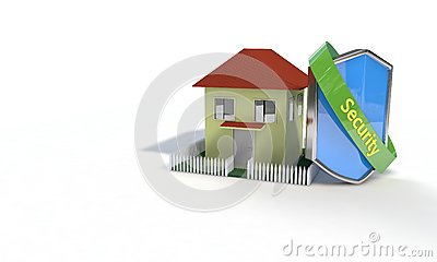 Securty of the house concept, 3d render Stock Photo