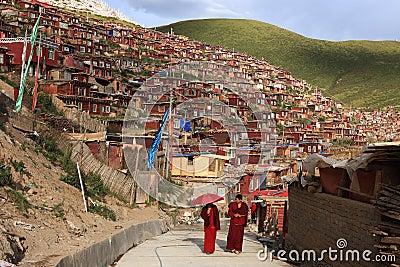 Seda Larong Wuming Buddhismushochschule Redaktionelles Bild