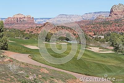Sedona för arizona golfhål