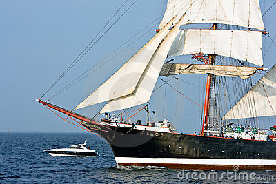 Sedov - tall ship Editorial Stock Image