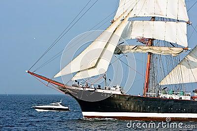 Sedov - tall ship Editorial Stock Image