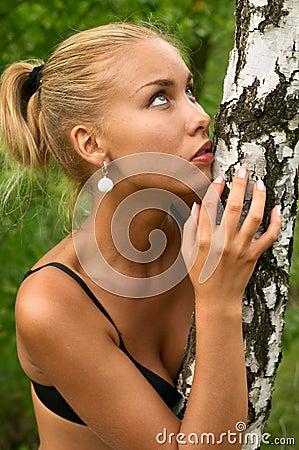 Seductive blonde girl