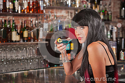 Seductive Woman Drinking
