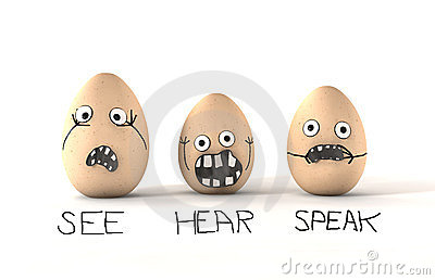 See Hear Speak No Evil Eggs