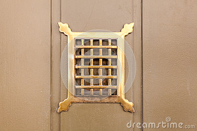 See Through Hole In Door Stock Photo Image 46035456