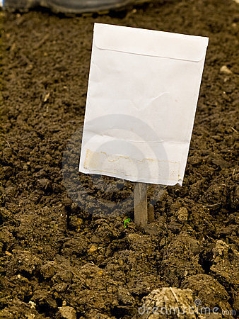 Seed Package Garden Row Marker