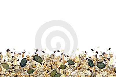 Seeds and cereals background